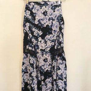 MINKPINK floral maxi skirt xs
